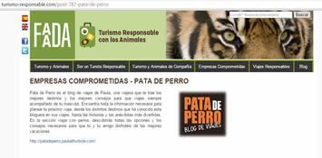 FAADA blogger turismo responsable animales pata de perro